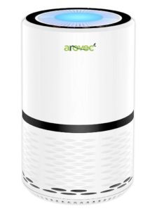 AROVEC True HEPA Air Purifier, Compact for home Air Cleaner, 3-Stage filter system